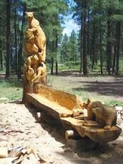 looking for artist to carve a bear from pine tree - Google Search