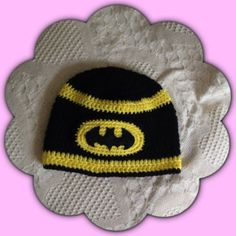 Batman Beanie Hat by KMKeepsakes on Etsy, $10.00