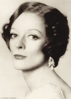 Maggie Smith. When the Dowager was still the Countess.