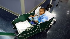 How special hospital buggies are helping young cancer patients