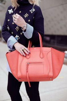 Orange Celine bag Waiting On Martha  http://www.recovetd.com | RECOVETD #summer #vibes #currentlycoveting
