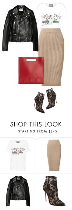 """Untitled #375"" by sherry-lai ❤ liked on Polyvore featuring Gucci, Eleven Six, Yves Saint Laurent and Christian Louboutin"
