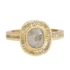 Greenwich Jewelers | Products | Category | Rings | Engagement | Todd Reed Rectangular Raw and Cubic Diamond Ring