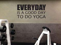 Yoga Wall Decal Yoga Sign Yoga Studio Decor by JandiCoGraphix