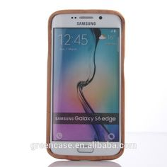 Pure Color Wooden/Bamboo Handmade Cell Phone Case Mobile Phone Bags for Samsumg Galaxy S6