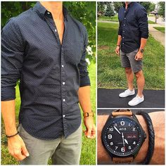 Here's the live action  look at the outfit from my flat lay earlier this week. Do you like this outfit❓ And, do you want to see more shorts looks like this❓ Also, Happy Mother's Day to all of the mothers out there, including my awesome wife❗️❗️❗️ _______________________________________________________ • • • • • #casual #casualstyle #shirt #dailylook #fashionblog #fashiongram #fashionpost #shorts #instyle #bracelet #menfashion #menstyle #menswear #menwithstyle #watch #ootdshare #outfitoft...