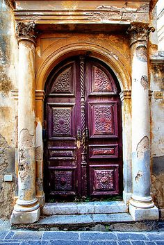 Old Door in a Medieval City by Robyn Carter