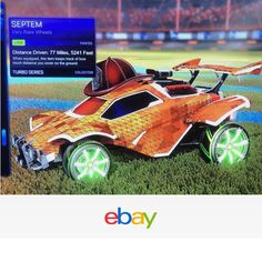 Rocket League Septem Wheels Painted Lime - Fast Shipping Xbox One!!!