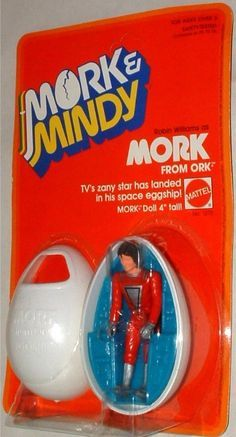 MATTEL: 1979 Mork and Mindy: Mork from Ork Action Figure with Eggship