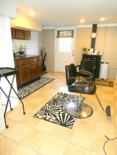 Would love to make a basement into a little salon so I can stop doing hair in my kitchen!