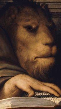 St. Mark (detail) by Il Pordenone (Giovanni Antonio de' Sacchis). c.1535