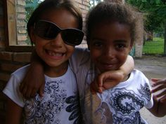 Sponsorship Awareness Brigade 2012:   Astry and Diana, two of the newest children living at the project.