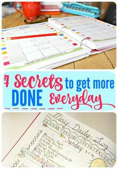 7 best secrets on how to get more done in one day. Learn the tips successful people use to get the job done. Plus free printables and resources to help you achieve your goals.