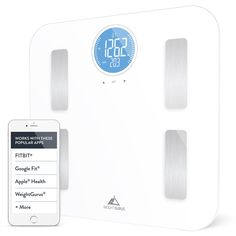 Weight Gurus Wifi Smart Connected Body Fat Scale with Large Backlit LCD (White   Stainless) >>> Want to know more, click on the image.