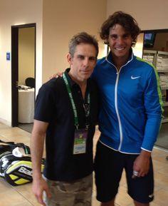 Nadal et Ben Stiller in Indian Wells