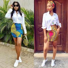 Short Gorgeous Ankara Skirt #ankara #Ankarabikini #africanprints #fabrics #Kente