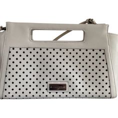 Brahmin Pre-owned Brahmin Lenox Clutch White Cross Body Bag ($141) ❤ liked on Polyvore featuring bags, handbags, clutches, white, white crossbody, white handbags, crossbody handbags, leather handbags and crossbody purse