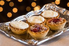 Mini cheesecakes and fruit tarts on the passed Dessert Hors D'oeuvres | Sterling Ballroom | Tinton Falls NJ Weddings
