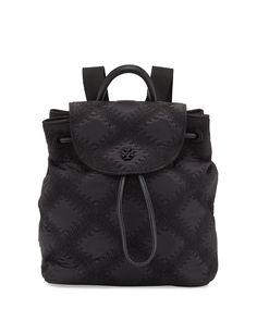 7beada6fbda Tory Burch Flame-quilt Mini W Dust  save Black Backpack 16% off retail
