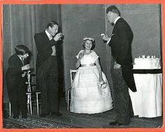 royallover:  Prince Charles and Princess Anne at what looks like a wedding reception, late 1950s