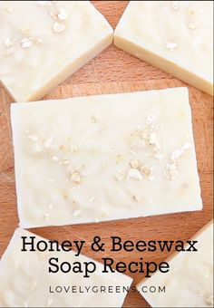 Recipe and instructions on how to make honey and beeswax soap. Includes tips on how much beeswax to use in a soap recipe, and how to use honey to tint soap caramel-brown soap recipes videos How to make Honey & Beeswax Soap Soap Making Recipes, Homemade Soap Recipes, Cold Press Soap Recipes, Beeswax Recipes, Diy Lush, Savon Soap, Lye Soap, Castile Soap, Glycerin Soap