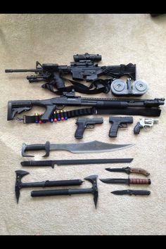 Guns and knifes