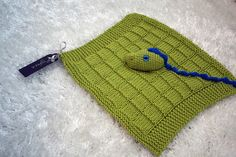 Crocodile baby security blanket