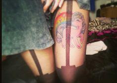"My ""My little pony"" tattoo #tattoo #girly #mylittlepony #thightattoo"