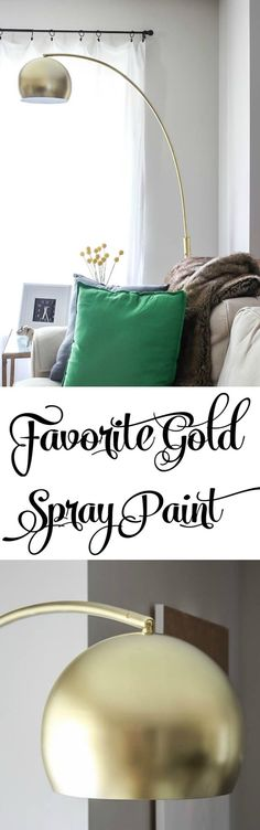 Best gold spray paint for DIY and home decor projects!