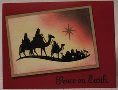 In My Craft Room: Peace On Earth Christmas Card