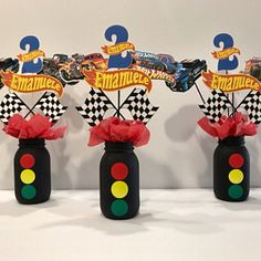 Informations About CARS Birthday Centerpiece, Disney Cars Centerpiece, Cars themed Birthday, Birthda Hot Wheels Party, Hot Wheels Birthday, Race Car Birthday, Race Car Party, Monster Truck Birthday, 2nd Birthday, Hot Wheels Cake, Birthday Ideas, Disney Cars Party