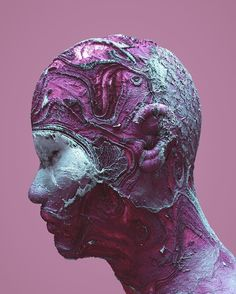 """Eroded"" - @iamvisua in 2016  #eternaldrip #psychedelic #3ddesign #cinema4d #c4d #3d #cgi #art #render #netart #3dart #design #future #scifi #sciencefiction #graphicdesign #modernart #digitalart #color #digital #80s #cyber #pastel #surreal #abstract by eternaldrip"