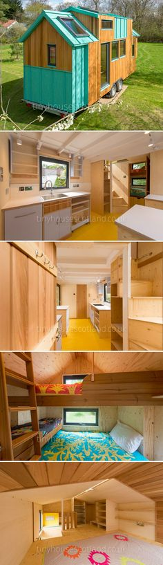 Designed and crafted by Jonathan Avery from Tiny House Scotland, the NestPod was built using environmentally-friendly construction practices. Small Tiny House, Best Tiny House, Tiny House Living, Tiny House Design, Small House Plans, Tiny House Rentals, Tyni House, Tiny House Nation, Tiny Apartments