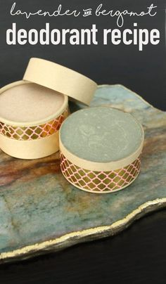 Natural Deodorant Recipe with French Green Clay! Whether you prefer a stick or a cream deodorant, this versatile lavender bergamot deodorant recipe with French green clay offers some of the best wetness and odor protection yet! And it's completely 100% natural. #deodorant #diy #health #wellness #skincare #recipe #natural #beauty #lifestyle