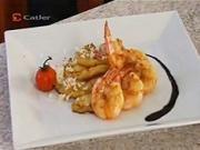 Grilované krevety - recept na krevety na grile s ananásom a kokosom