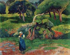 Paul Sérusier,Landscape at Le Pouldu, 1890