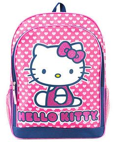 Hello Kitty Kids Backpack, Girls or Little Girls Blue and Pink Hearts Backpack - Kids - Macy's