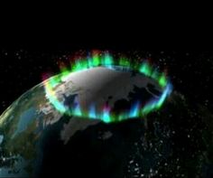 Ring of fire .....A picture taken by NASA of the northern lights from space