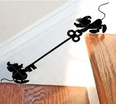 Mice Pals on Stairs Decal by Ears2YouInc on Etsy