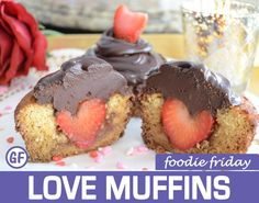 Love Muffins | Foodie Friday Recipes — Planima #paleo #dessert #valentines #cupcake #heart #love