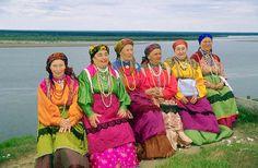 Komi women in traditional dress.