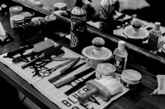 The Sandyman Chopshop gets ready for a day of traditional wet shaving. #manly   https://www.facebook.com/bluebeardsrevenge/photos/a.870052353016015.1073741830.131130190241572/870052663015984/?type=1&theater