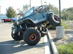 Jeeps can often be spotted marking their territory in various, hard to reach locations.
