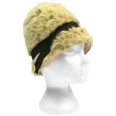 e70cc37a940 1960s Miss Dior Green Angora Hat