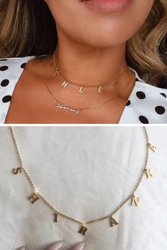 Letter Necklace, Cute Necklace, Gold Necklace, Cheap Necklaces, Personalized Necklace, Cute Jewelry, Headpiece, Jewerly, Chain