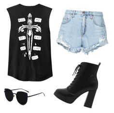 """rock outfit"" by mursitsanna on Polyvore featuring Nobody Denim"