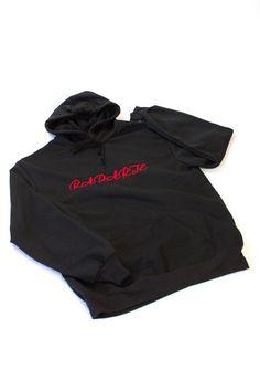 Radarte Embroidered Black Hoodie