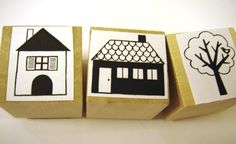 Huisje, Boompje - Stempel naar keuze | Stempelen | Een Nieuw Avontuur