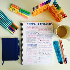 Jools' Studyblr: Notes on chemical calculations with a cup of tea