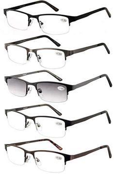 596238c0a779 Shop for Amcedar Metal Half-frame Reading Glasses Men Spring Hinges  Stainless Steel Material Sun Readers Starting from Choose from the 2 best  options ...